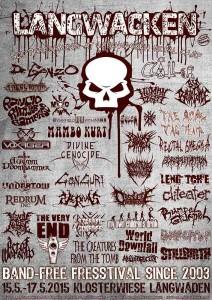 Das offizielle Plakat zum Langwacken Metal Camp Vol(l). 9