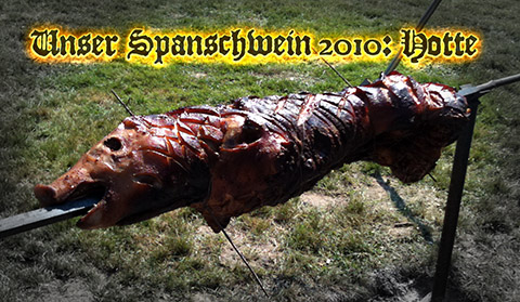 Das erste Spanschwein: Hotte